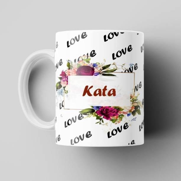 Beautum Love Kata Romantic Name White Ceramic Coffee Best Gift For Loved Ones Model No:BNMLVY009221 Ceramic Coffee Mug