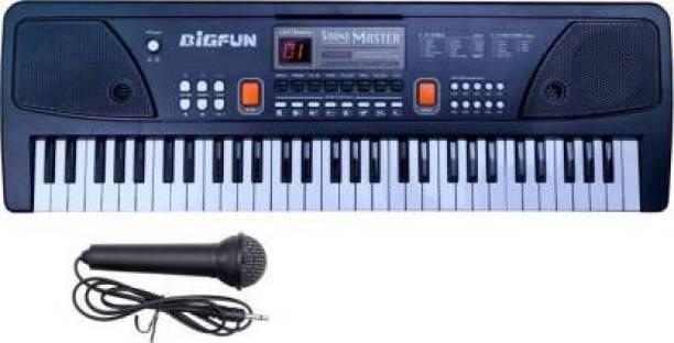 BIGFUN 61 keys Electronic Piano Keyboard with LED Display & Microphone