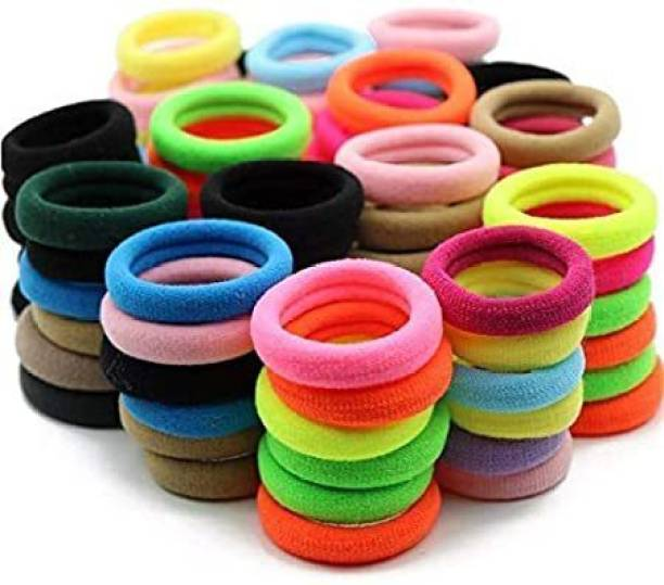 agile fashion Pack of 50pc Multicolour hair bands rubber for women and girls Hair Band rubber Rubber Band