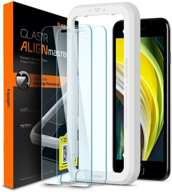 Spigen Tempered Glass Guard for iPhone SE(2020), Apple iPhone 8, Apple iPhone 7