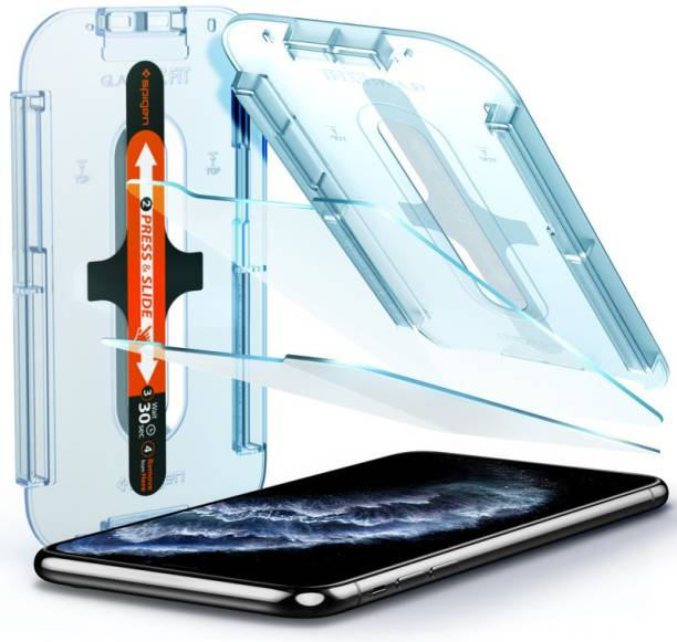 Spigen Tempered Glass Guard for iPhone 11 Pro, Apple iPhone X, Apple iPhone XS