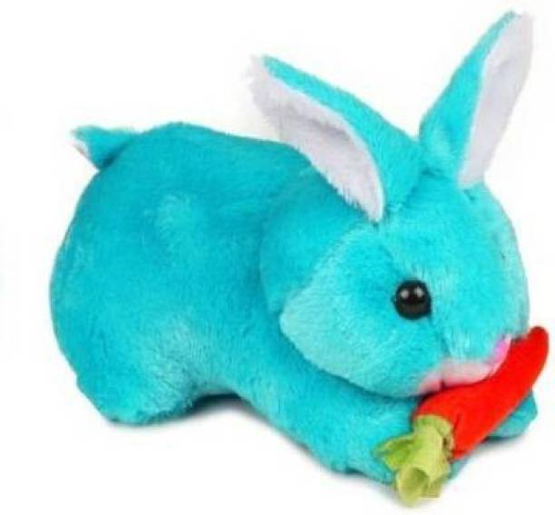 DESTINO ShonnaBabu SHIVAYE PARI pARI Macros Toodles Stuffs Soft and Very Cute Rabbit Soft Toys Blue High Quality / Very Soft Rabbit for Gifting/Birthday gift/ Anniversary Gift / Huggable - Perfect Soft Toy for Kids (Blue Rabbit)  - 25 cm
