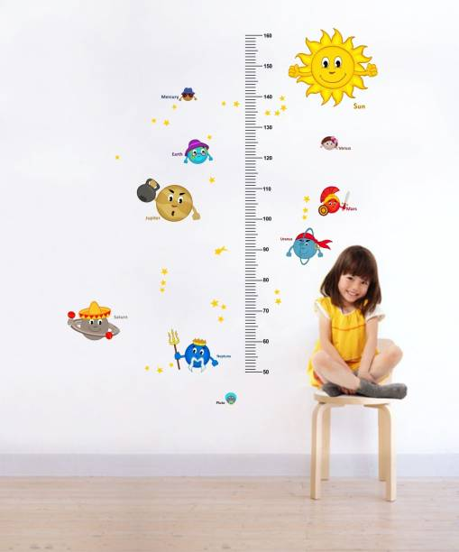 Rawpockets Solar System and Height Measurements Chart for Kids - Kids Room