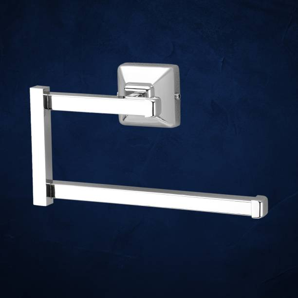 Plantex Crosslink Stainless Steel 304 Grade Squaro Napkin Ring/Towel Ring/Napkin Holder/Towel Hanger/Bathroom Accessories(Chrome) Silver Towel Holder