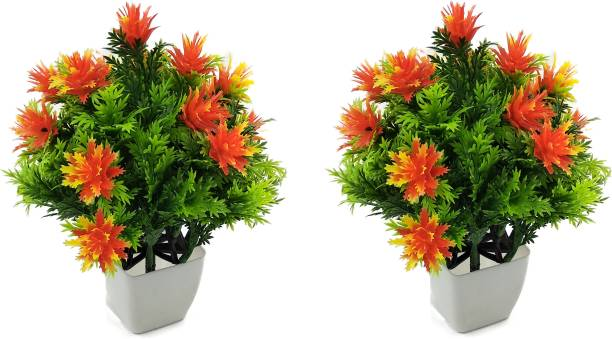 RESILIENCE Combo Artificial Plant For Home/Office Table Decoration or Gift Table Flower Pot Bonsai Wild Artificial Plant  with Pot