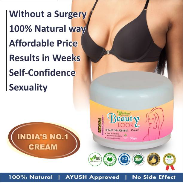Riffway Beauty Look Herbal Cream For Lifting Up Breast Nourishing Skin Increase Flexibility Your Breast 100% Ayurvedic