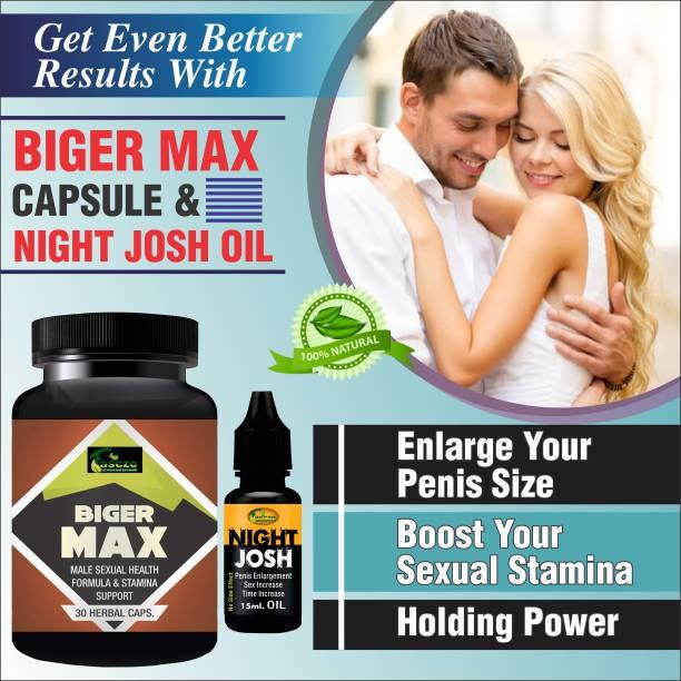 Floarkart Bigger Max Capsules And Big Play Oil Herbal Supplement 100% Ayurvedic