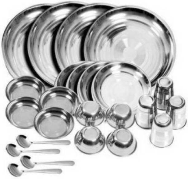 Kitchen Plazaa Pack of 24 Stainless Steel Dinner Set