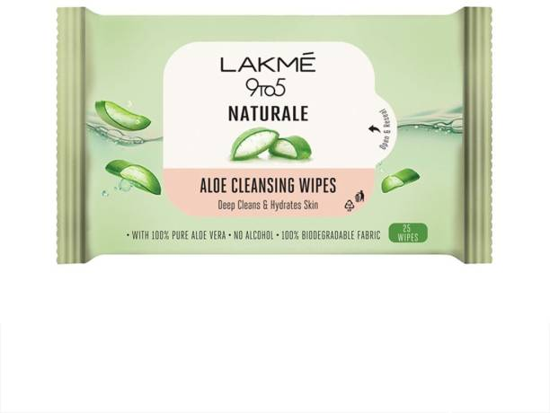 Lakmé 9to5 Natural Aloe Cleansing Wipes