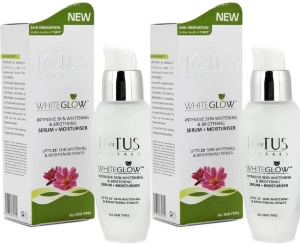 LOTUS HERBALS Whiteglow Intensive Skin Whitening Serum+Moisturiser (pack of 2)