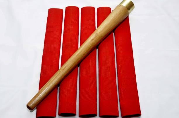 APPS SPORTS Bat Grip Set of 5 Cricket Bat Grip + 1 Wooden Cone Chevron
