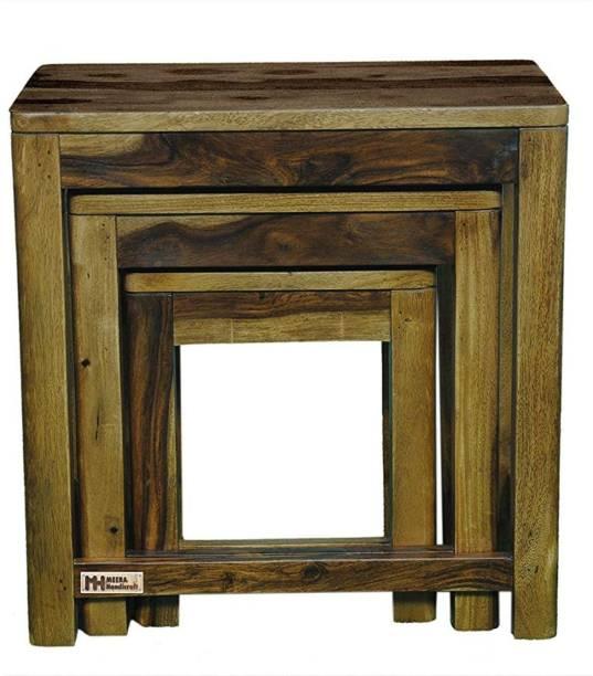 Meera Handicraft Sheesham Wood Solid Wood Nesting Table