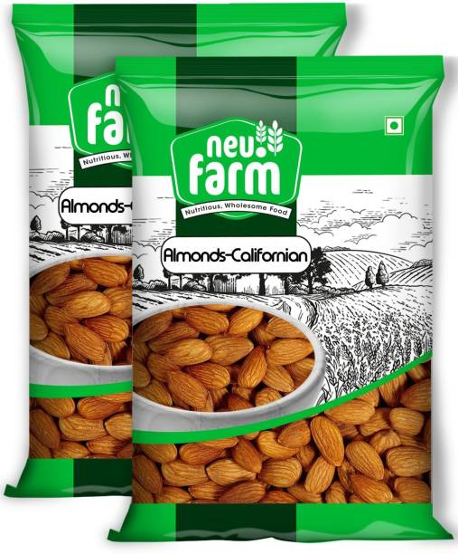 Neu.Farm Almonds/Badam - Californian - Premium Quality - 100% Natural - Pack of 2 Almonds