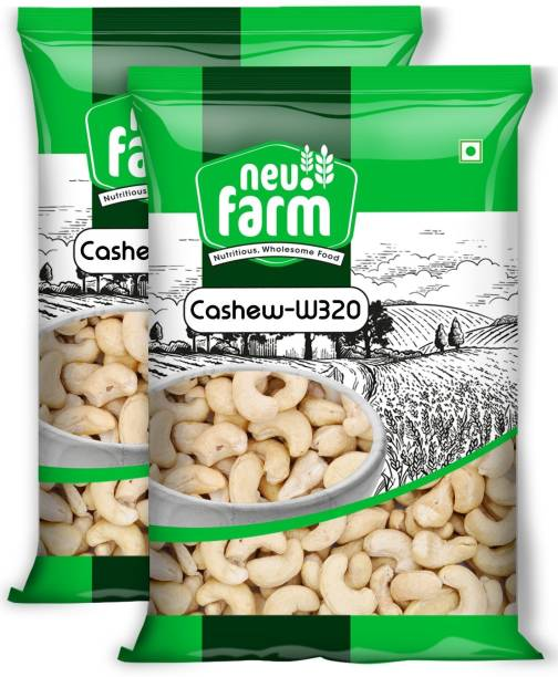 Neu.Farm Cashew/Kaju - Premium Whole Medium W320 - Pack Of 2 Cashews