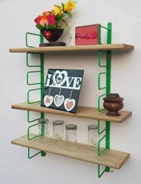 Xtenshion Crafts Wall Shelf For Kitchen / Kitchen Wall Rack / Kitchen Wall Shel Wooden Wall Shelf