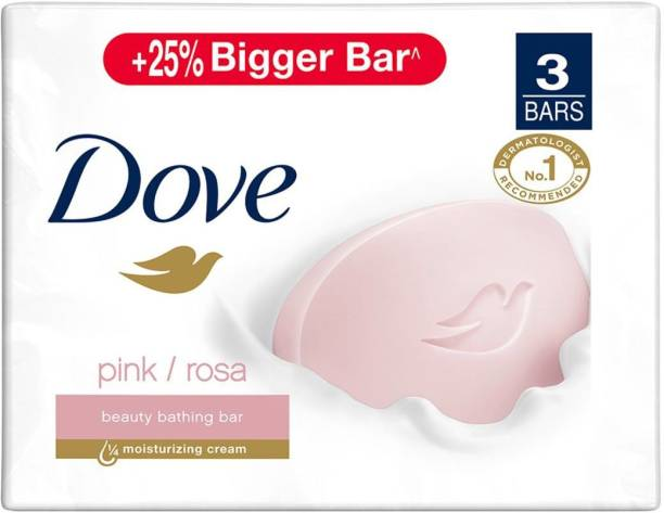 DOVE Pink Rosa Beauty Bar - Soft, Smooth, Moisturised Skin