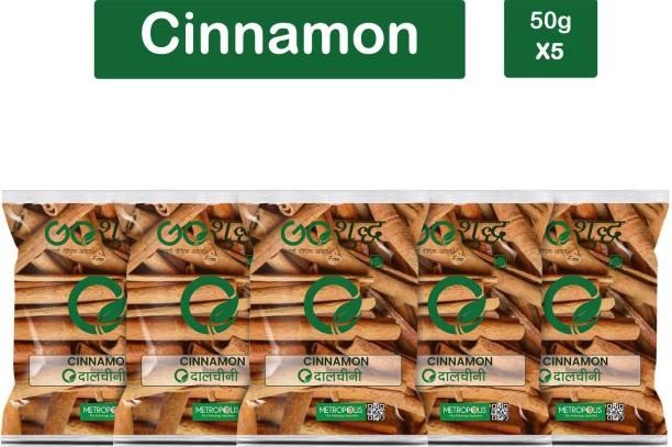 Goshudh Premium Quality Cinnamon Sticks Pack Of 5 50g Each