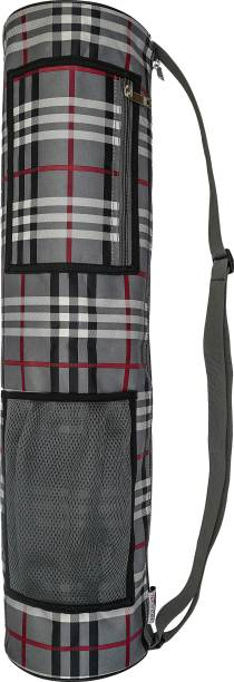 PANCHTATAVA Full Zipper Yoga Mat Bag With Broad Shoulder Strap- Grey
