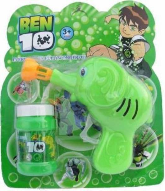 VTR3 ELEPHANT SHAPED Bubble Gun for Kids (Green) Guns & Darts (pack of 1) Toy Bubble Maker
