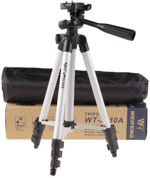 Jack Klein Tripod stand 3110 Portable and Foldable mobile Camera stand with Mobile Clip Holder Bracket Tripod, Tripod Ball Head, Tripod Kit Tripod Kit, Tripod (Black, Silver, Supports Up to 1500 g) Tripod