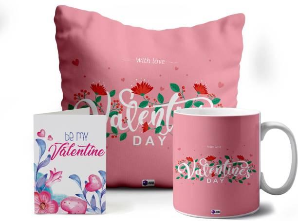 Crazy Corner Cushion, Greeting Card, Mug Gift Set