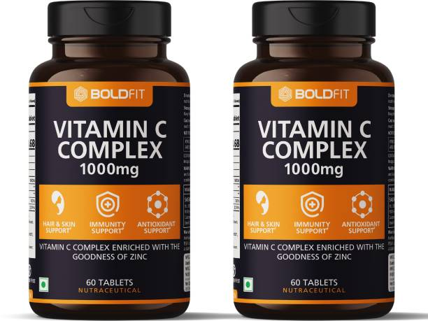 BOLDFIT Vitamin C Complex 1000mg tablets with Amla & Zinc For Immune Support for adults