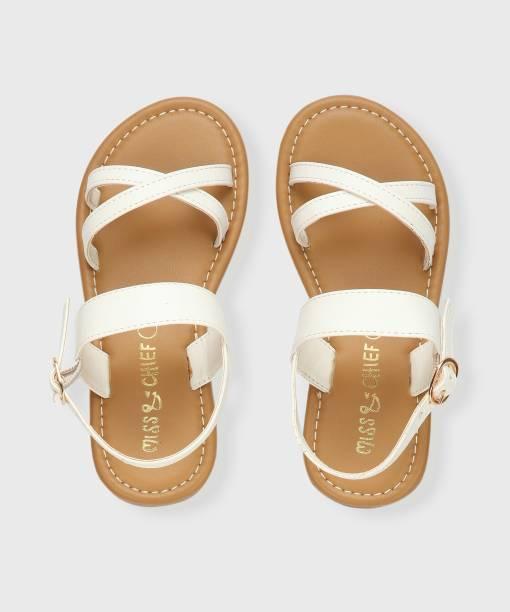 Miss & Chief Girls Buckle Strappy Sandals
