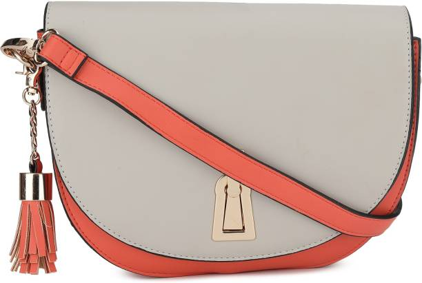 Dune London Grey, Orange Sling Bag