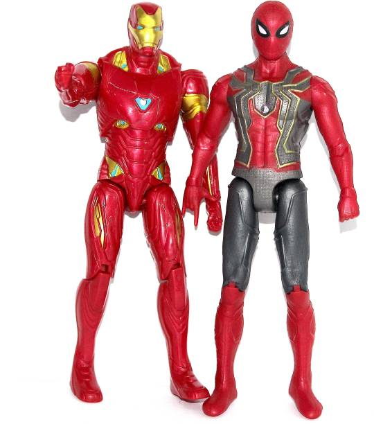 WOW toys Big Size Avengers End Game Super Hero's - Spider Man and Iron Man