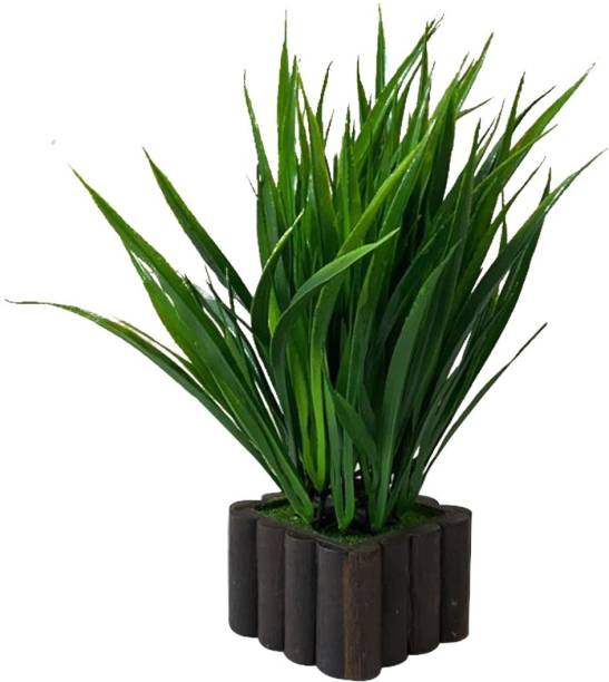 Ryme Wild Bamboo Green Artificial Plant With Pot Bonsai Artificial Plant  with Pot
