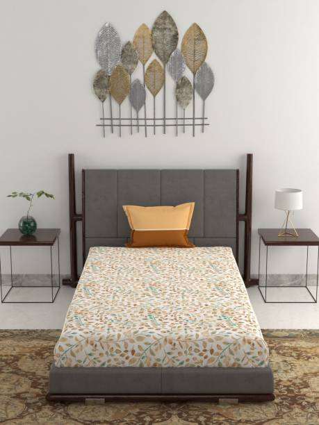 TRIDENT 120 TC Cotton Single Floral Bedsheet