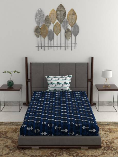 TRIDENT 120 TC Cotton Single Printed Bedsheet