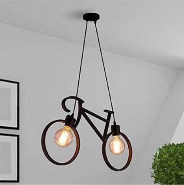 LIGHTING HOURS Hanging Ceiling Pendant Light Metal Antique Cycle Shaped for Home Decor Living Room Pendants Ceiling Lamp