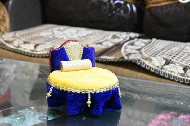 krishnagallery1 Laddu gopal Designer Sofa cum Bed With Pillow 0 To 6 No. size Laddu gopal bed , laddu gopal dress (Good wooden quality standerd Design bed) Copper Pooja Chowki