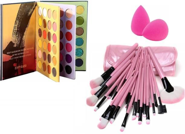 D.B.Z. Beauty Glazed 72 Color Press Eyeshadow Palette Book Shadow Palette PROFESSIONAL MAKEUP COMBO kit