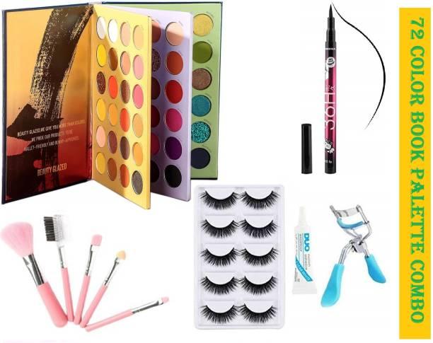 D.B.Z. Beauty Glazed 72 Color Press Eyeshadow HIGH QUALITY MAKEUP COMBO