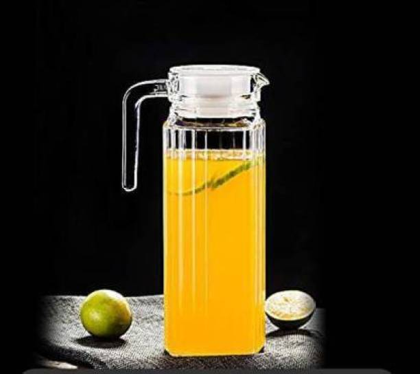 VERPHX 1.1 L Water Crystal clear Glass 1.1L Water jug awesome designed Jug
