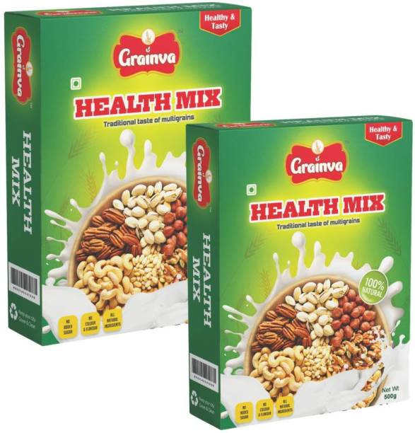 grainva Health Mix 100% Multimillet Saththu Mavvu Multigrain Nutrition drink for Kids Energy Drink