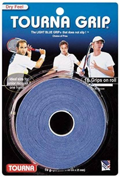 Tourna Original Dry Feel (10 grips on roll), One Size/Blue TG-10-OS Dry Feel