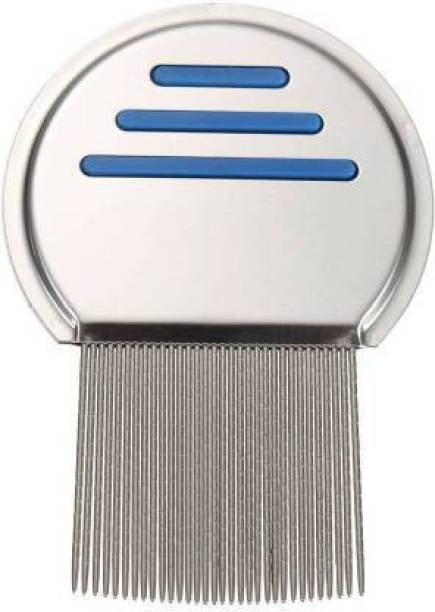 Frackson Nit Free Terminator Lice Comb, Professional Stainless Steel Louse and Nit Comb for Head Lice Treatment, Removes Nits