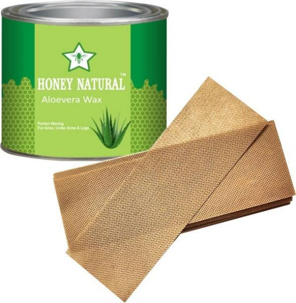 Honey Natural The perfect ALOEVERA Hot Wax Smooth Arms & Legs.(600 g) Wax INCLUDE3 STRIPS Wax