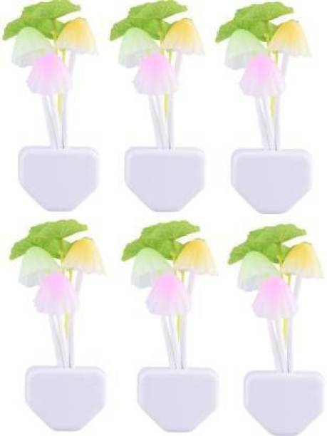 tree fit Mushroom Color Changing ,Multi Color Led Sensor Flower Night Lamp for bedroom (11 cm, Multi color) ( Pack of 6 ) Night Lamp (11 cm, White) Multicolor Plastic Hanging Lantern