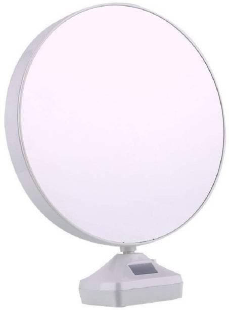 Khodalraj Enterprise Magic Mirror Photo Frame| Magic Mirror led Photo Frame| Birthday/Valentine's Gift| Surprice Decoration| Attractive Mirror| Round Mirror 8 inch Digital