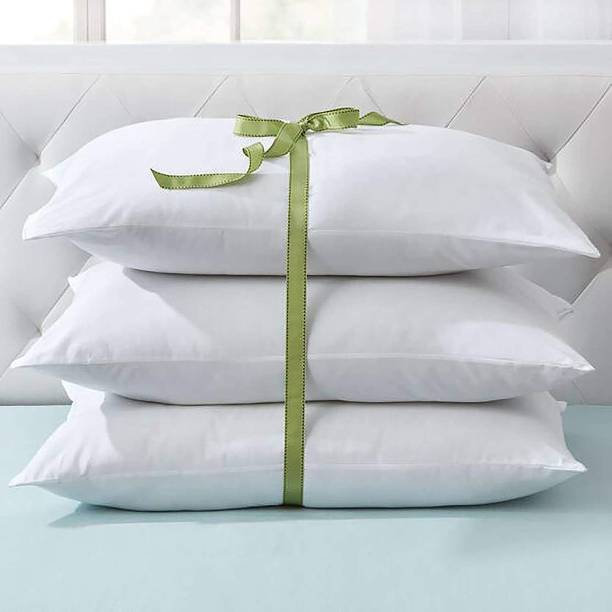 Kitefly 103 Polyester Fibre Solid Sleeping Pillow Pack of 3