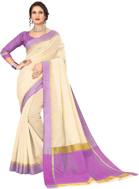 Swassy Fab Printed Daily Wear Cotton Blend Saree