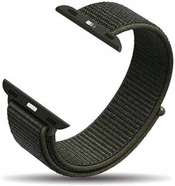 Tingtong Soft Lightweight Breathable Nylon Loop Sport 42mm/44mm Cargo Khaki Smart Watch Strap