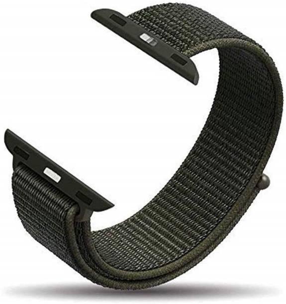 Tingtong Soft Lightweight Breathable Nylon Loop Sport 42mm/44mm Cargo Khaki Smart Watch Strap