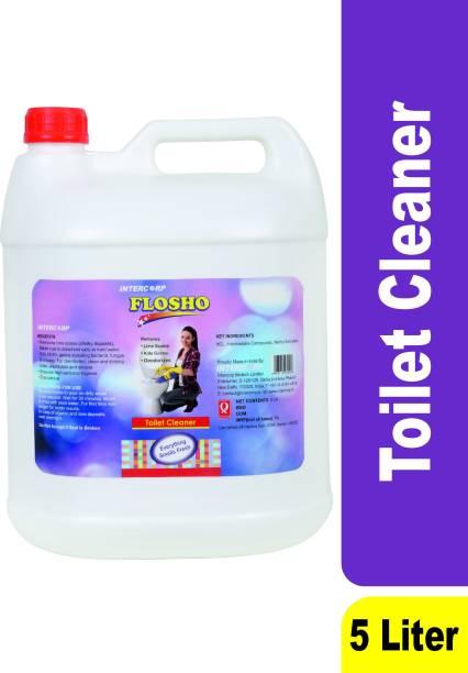 intercorp flosho Toilet Cleaner, 5 Liter Jumbo Saver Pack Citrus Liquid Toilet Cleaner