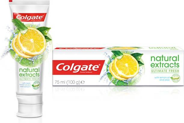 Colgate Natural Extracts With Lemon Oil & Aloe Imported Toothpaste