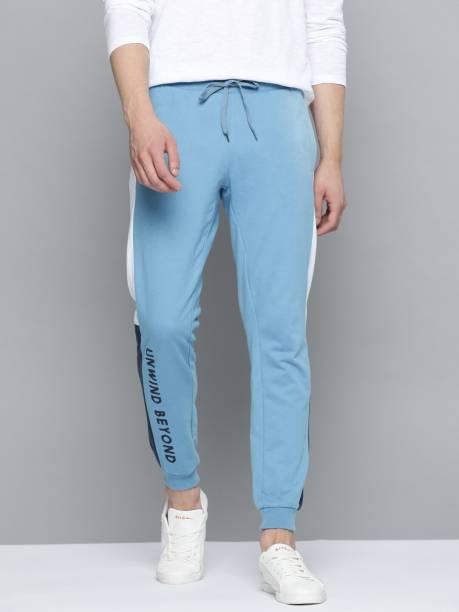 MAST & HARBOUR Solid Men Blue Track Pants